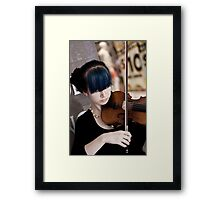 Raw Violin Talent Framed Print