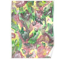 RED YELLOW AND GREEN ABSTRACT TWO Poster