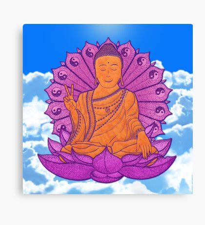 peace buddha in the sky Canvas Print