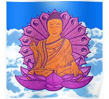 peace buddha in the sky Poster