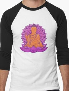 peace buddha in the sky Men's Baseball ¾ T-Shirt