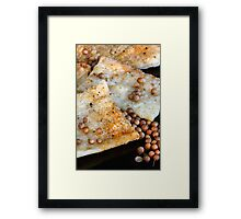 Spicy Snack with Coriander Seed Framed Print