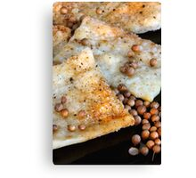 Spicy Snack with Coriander Seed Canvas Print