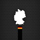 Germany Flag and Map - Black Stripe on Dark gray  by UltraCases