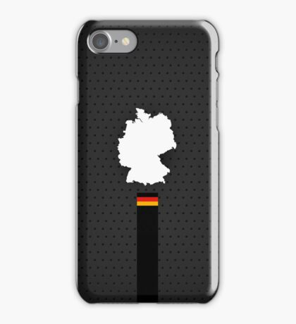 Germany Flag and Map - Black Stripe on Dark gray  iPhone Case/Skin