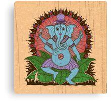 peace ganesh parchment Canvas Print