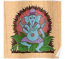 peace ganesh parchment Poster
