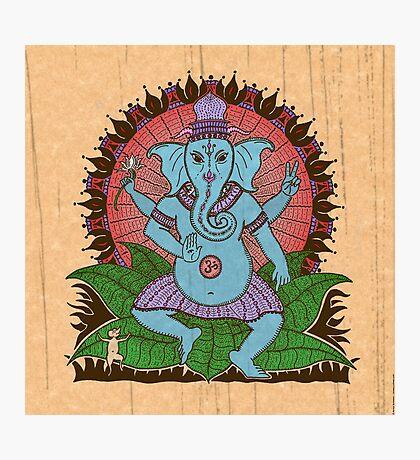 peace ganesh parchment Photographic Print