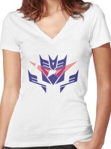 Gurrentron or Deceptilagann Women's Fitted V-Neck T-Shirt