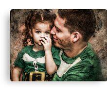 Papa & Lilly Elf Canvas Print