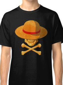 one piece skull realistic hat flag logo ワンピース luffy nami Classic T-Shirt