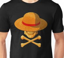 one piece skull realistic hat flag logo ワンピース luffy nami Unisex T-Shirt