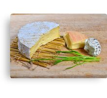 Assortment of French cheese Canvas Print