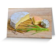 Assortment of French cheese Greeting Card