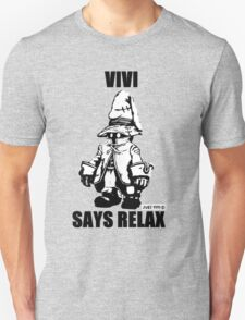 Vivi Says Relax - Monochrome T-Shirt