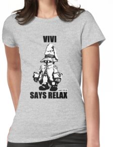 Vivi Says Relax - Monochrome Womens Fitted T-Shirt