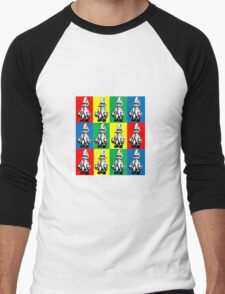 Just Vivi - Bold Colour Grid Men's Baseball ¾ T-Shirt