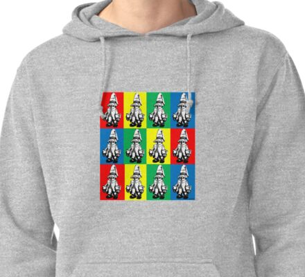Just Vivi - Bold Colour Grid Pullover Hoodie