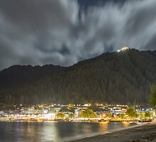 Queenstown night shore by Paul Campbell  Photography