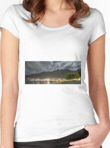 Queenstown night shore Women's Fitted Scoop T-Shirt