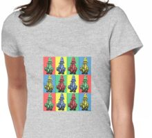 Just Vivi - Mix Colour Grid Womens Fitted T-Shirt