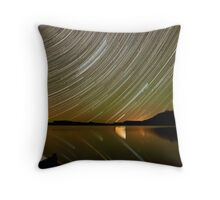 rose lake star trail Throw Pillow