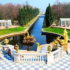 Peterhof Palace Canal Entrance by BrianFitePhoto