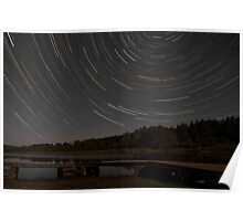 hartley pond star trail Poster