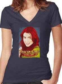 Geek Goddess  Women's Fitted V-Neck T-Shirt