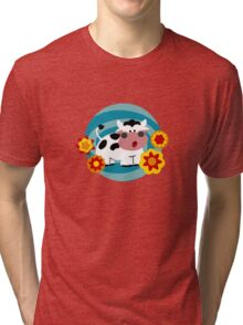 Psychedelic Cow Tri-blend T-Shirt