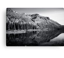 glacier reflection Canvas Print