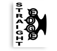 Straight Edge Brass Knuckles Design Canvas Print