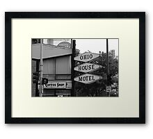 Chicago Motel Framed Print