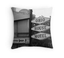 Chicago Motel Throw Pillow