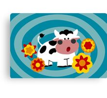 Psychedelic Cow Canvas Print