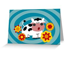 Psychedelic Cow Greeting Card