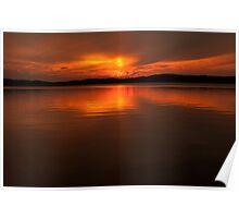 lake desor sunset Poster