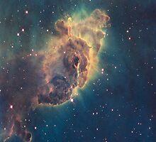 Carina Nebula Pillar iPhone Case by iphonejohn