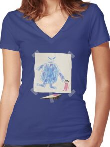 Remembering Boo Women's Fitted V-Neck T-Shirt