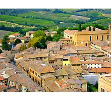 The Rooftops Of San Gimignano Photographic Print