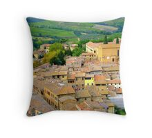 The Rooftops Of San Gimignano Throw Pillow
