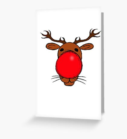 Rudolph the Red Nosed Reindeer Greeting Card