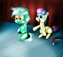 Lyra & bonbon playing games !! by falloutmuse