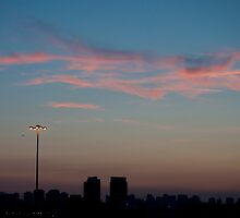 Pink Clouds West of Don Mills (#434) by Gary Chapple
