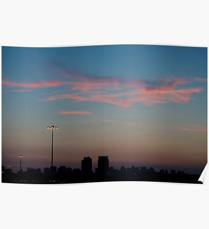 Pink Clouds West of Don Mills (#434) Poster