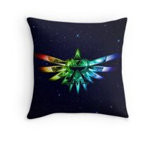 Zelda - Triforce full color Throw Pillow