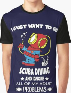 Superman Scuba Diving Graphic T-Shirt