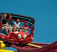 Crazy Mouse Riders Red by Gary Chapple