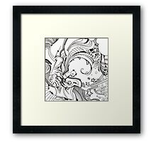 Robot Fizz - Pen & Ink Illustrated Art Framed Print