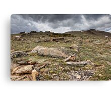 Rocky Tundra and Clouds Canvas Print